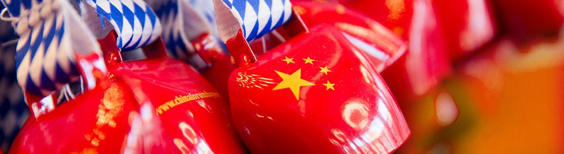 Chinaforum Bayern Kuhglocken Chinaflagge