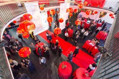 Eingangsbereich Dekoration Bayerisch-Chinesisches Frühlingsfest Chinaforum Bayern 2018