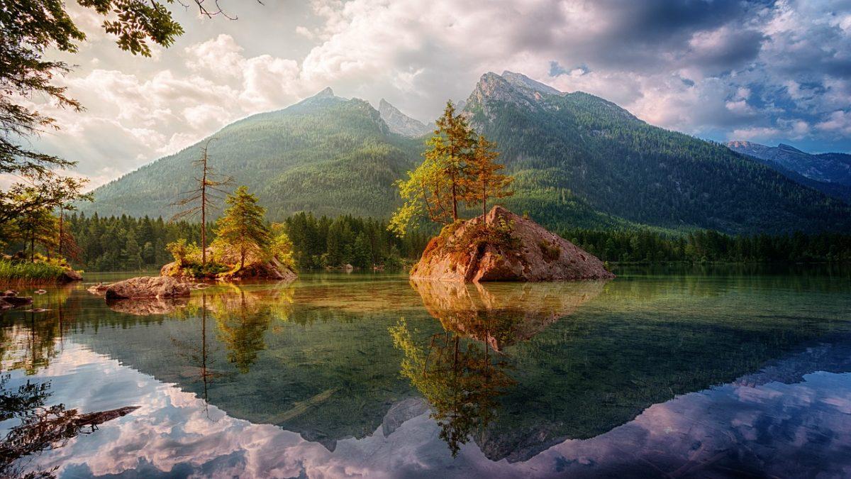 Landschaft Bayern oder China