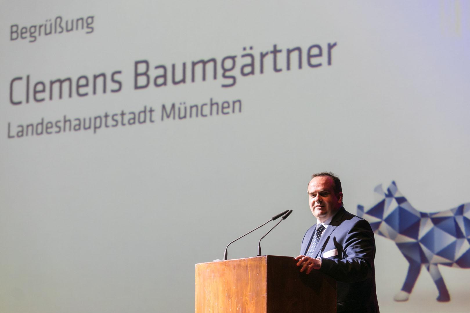 Begrüßung Herr Baumgärtner von der Landeshauptstadt München